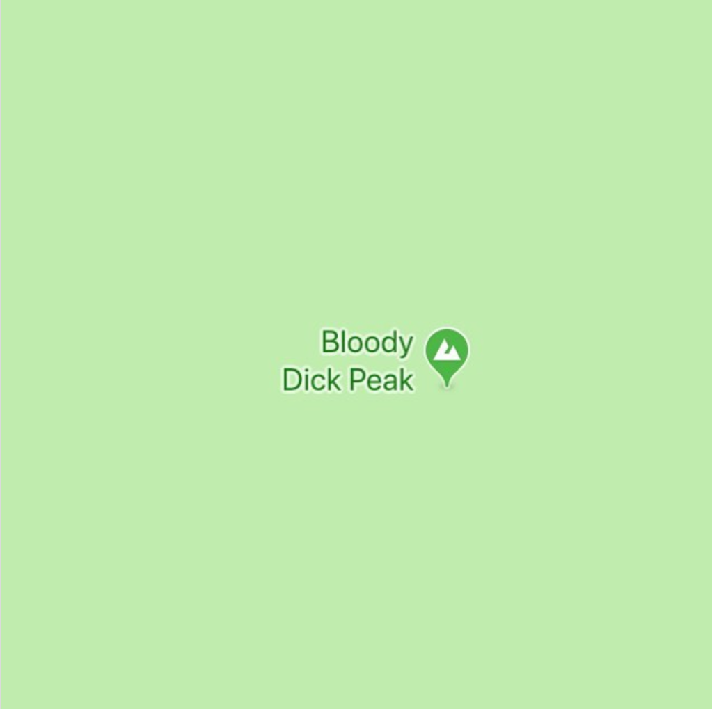 Sad Topographies Bloody Dick Peak