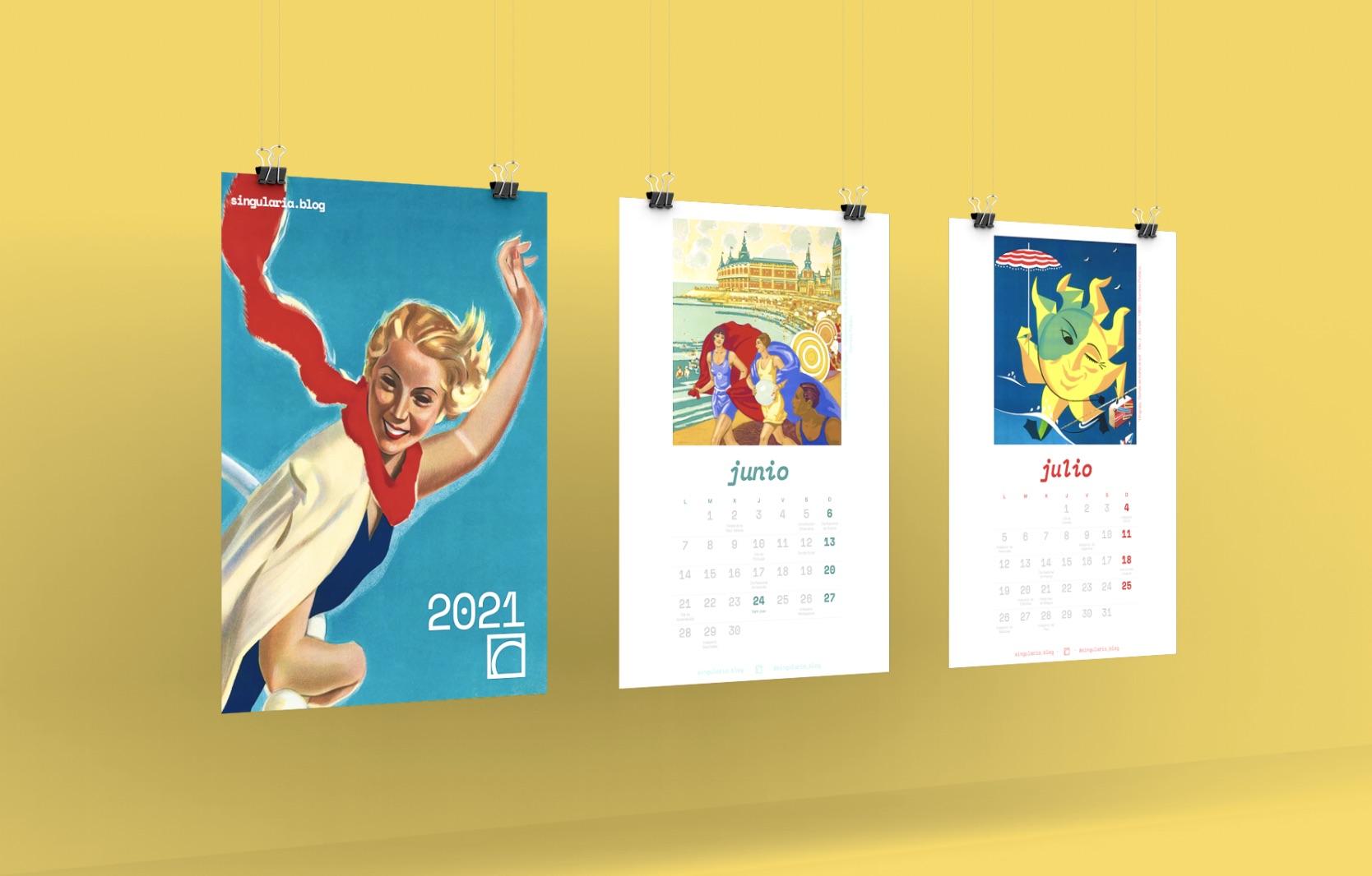 Calendario vintage singularia