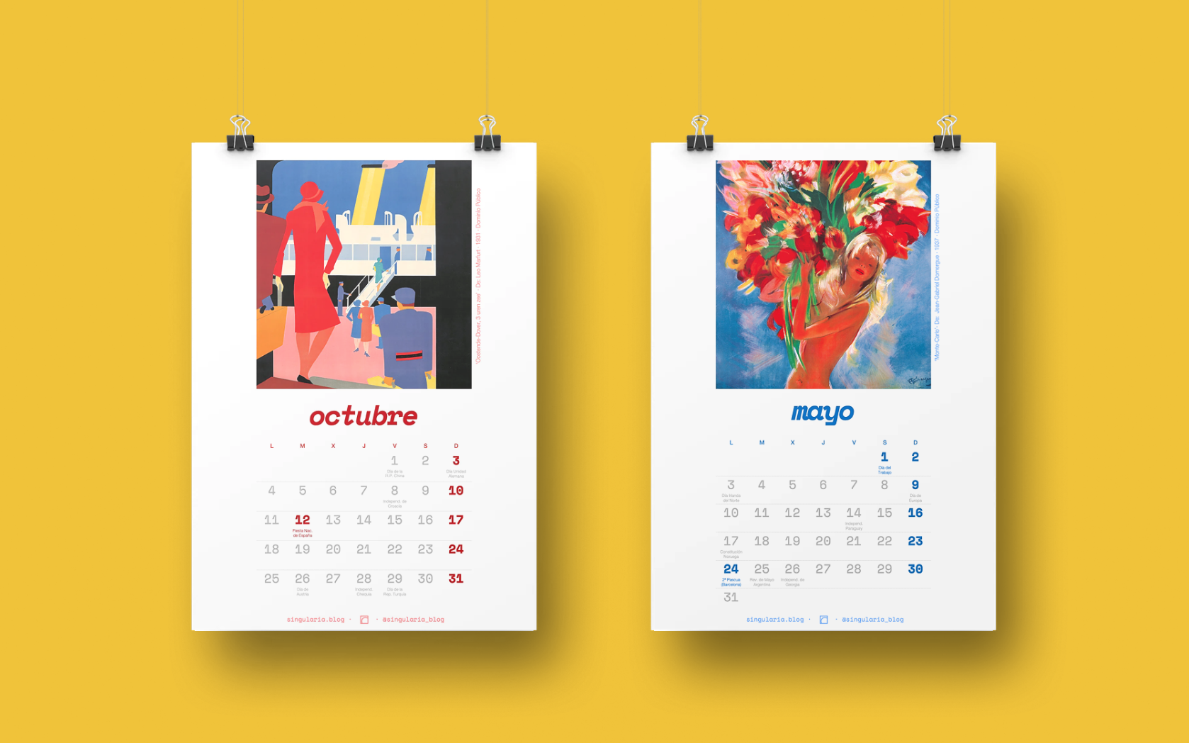 Calendario Singularia - 2