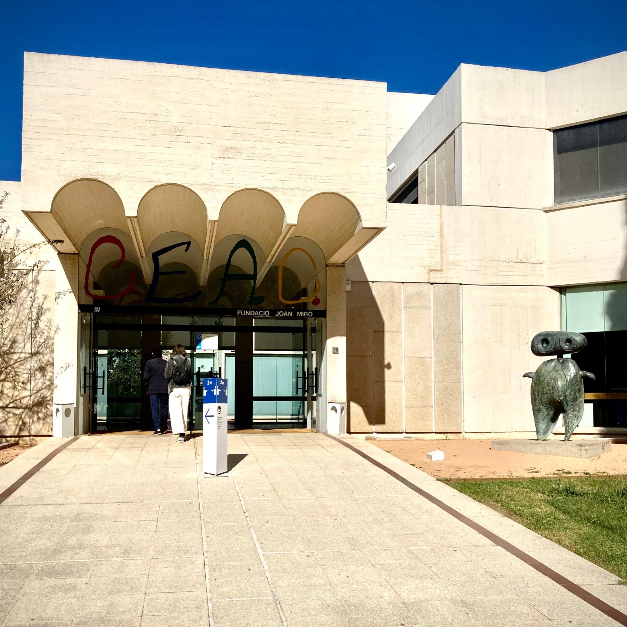 Fundació Miró: entrada