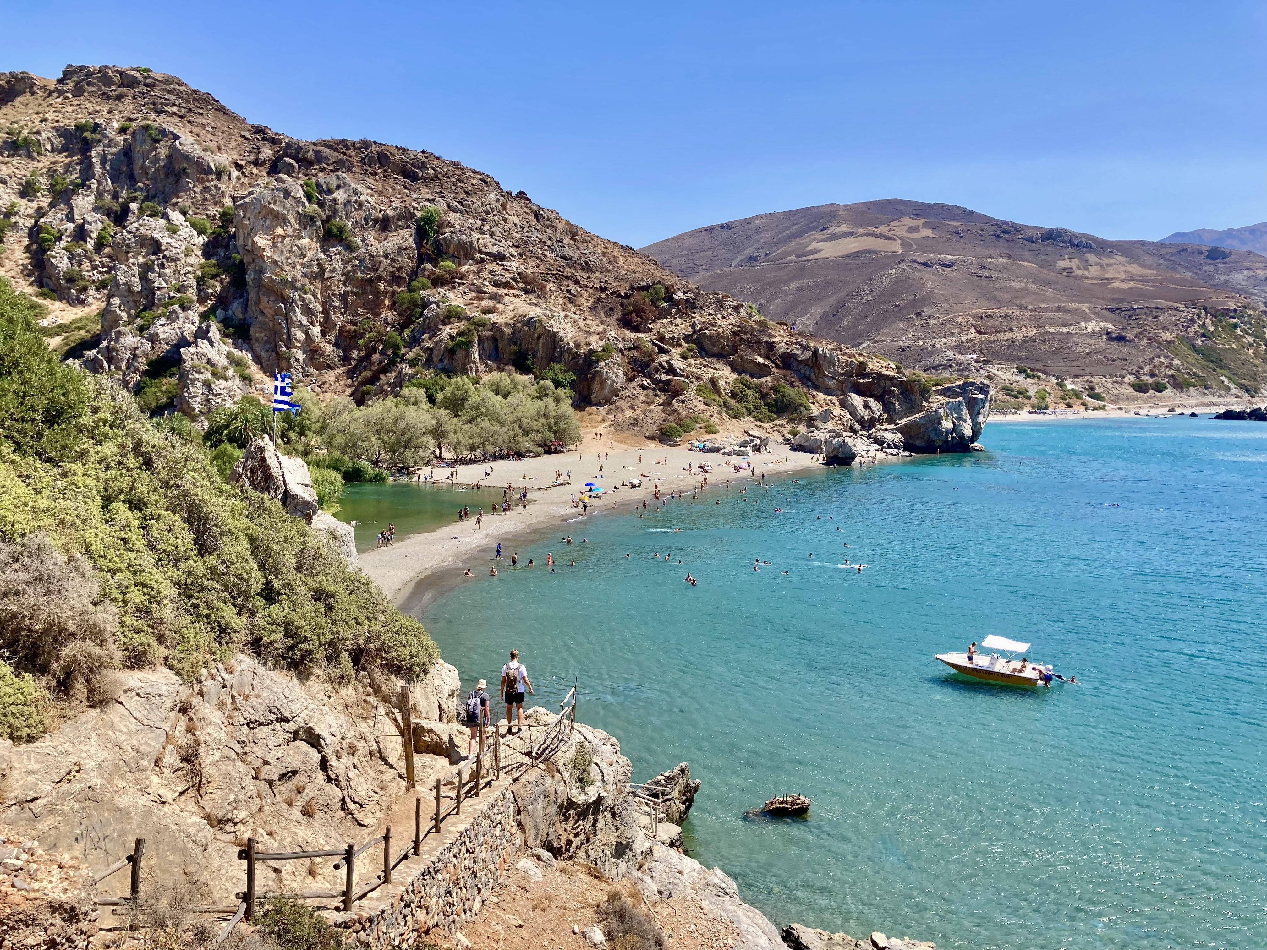 Preveli, uno de los 8 azules de Creta
