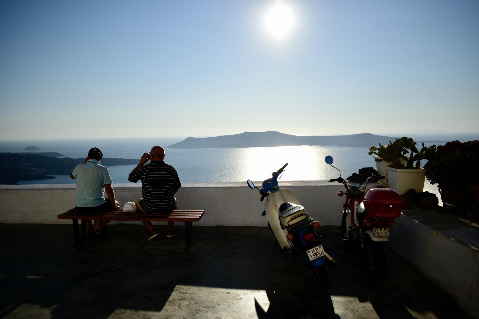 atardecer de Santorini, desde Fira