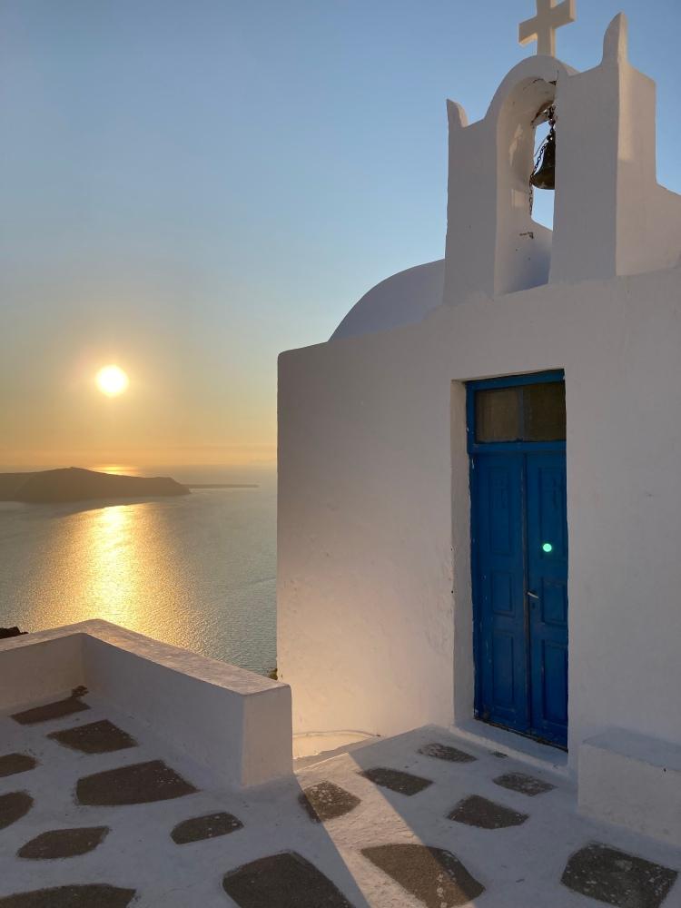 atardecer de Santorini, Agios Ioannis